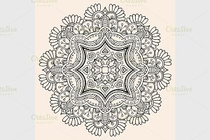 Beautiful hand drawn mandala