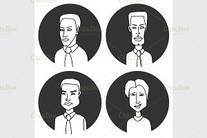 Sketch people icons.