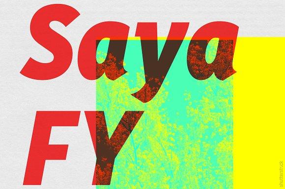 Saya FY Black Italic in Sans-Serif Fonts