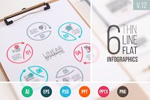 Linear elements for infographic v.12