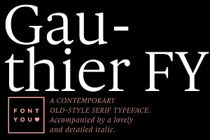 Gauthier FY Family (6 fonts)