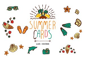 24 summer cards