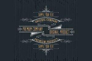 11 Vintage premium typographic label