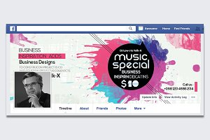 Music Party Night Facebook Timeline
