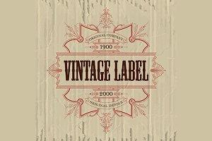 10 Vintage premium typographic label