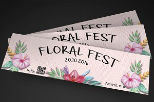 Floral festival event ticket