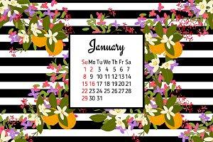 №153 Flower Calendar for 2017