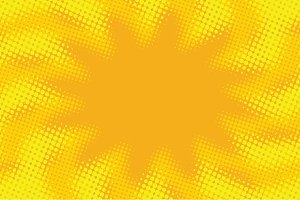 Yellow orange abstract pop art retro