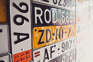 Old Car Number Plates Collection