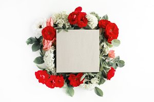 Craft box and floral composition