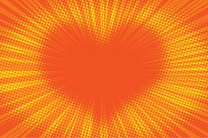 Yellow orange background heart