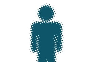 male icon silhouette of a man