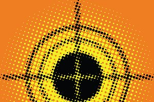 Target pop art style blurred