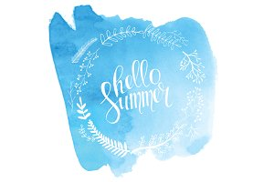 Hello summer! Watercolor!
