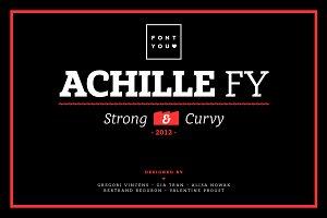 Achille FY Black Italic