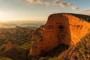 Las Medulas mountains in Leon, Spain