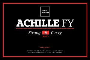 Achille FY Family (4 fonts)