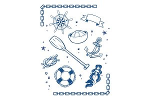 Sea and nautical symbols