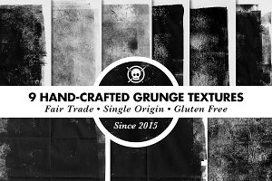 9 Hand-Crafted Grunge Textures