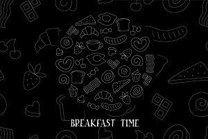 Breakfast time set.
