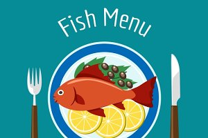 Fish delicious dish healthy eating