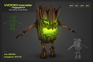 Wood Monster [rigged]