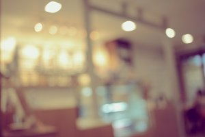Blurred background of cafe