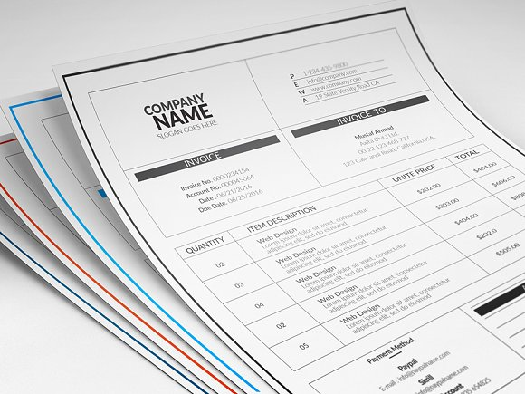 Simple Invoices in Stationery Templates