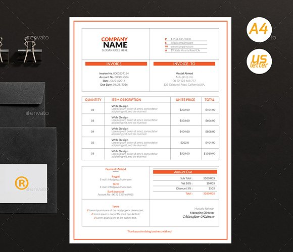 Simple Invoices in Stationery Templates - product preview 2