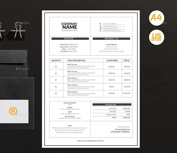 Simple Invoices in Stationery Templates - product preview 3