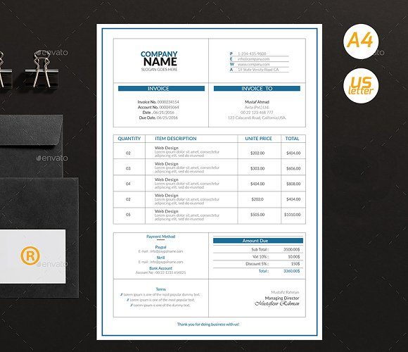 Simple Invoices in Stationery Templates - product preview 4