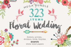 Wedding Floral Huge 323 Collection
