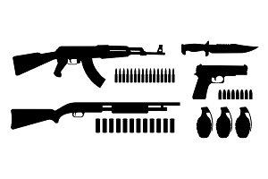 Weapon game resources. Vector