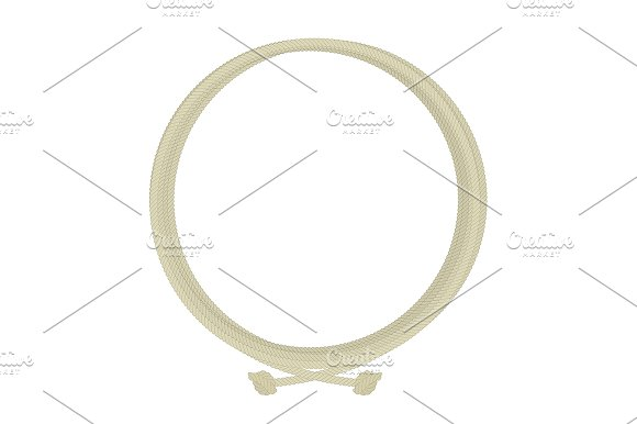 Round rope node frame. Vector - Illustrations