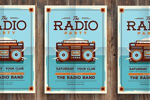 Radio Party Flyer