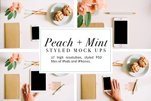Peach + Mint Styled Mockups