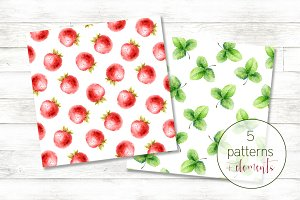 Set with strawberries