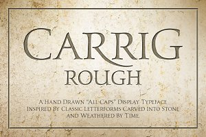 Carrig Rough—2 All Cap Serif Fonts