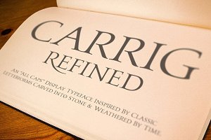 Carrig Refined—2 All Cap Serif Fonts