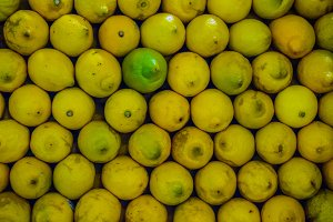 Lemons background fresh