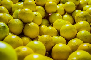 Lemons background close up