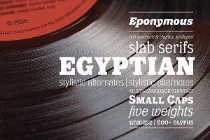 Eponymous - 10 Slab Serif Font Pack