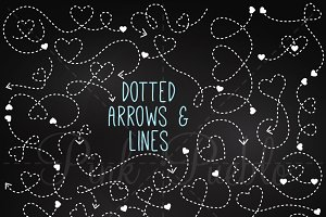 Chalkboard Dotted Arrows & Lines