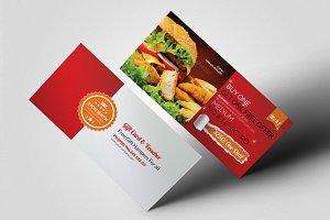 Restaurant food Gift Voucher