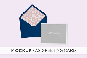 mockup . A2 greeting card
