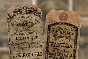Grungy Vintage Advertising Tags