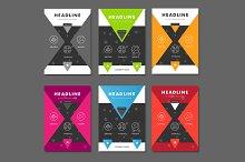 6 Vector brochure template