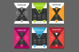 6 Vector brochure template