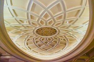 Old antique plaster ceiling