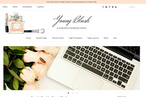 Young Blush WordPress Theme